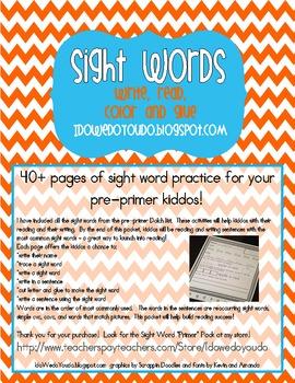 Sight Word * Pre-Primer