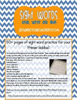 Sight Word * Primer Pack