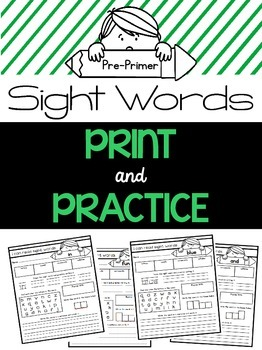 Sight Word Practice {Pre-Primer Dolch Words}