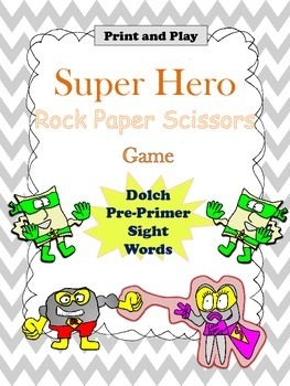 Sight Word Print and Play Game (Pre-Primer List)