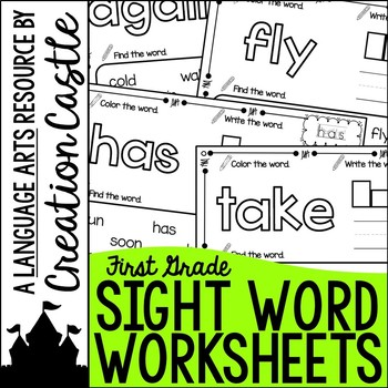 Sight Word Printables - First Grade