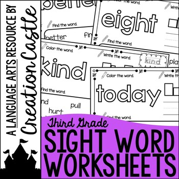 Sight Word Printables - Grade Three
