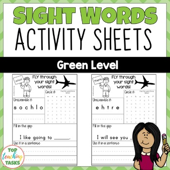 High Frequency Sight Word Printables for Year One NZ (Gree