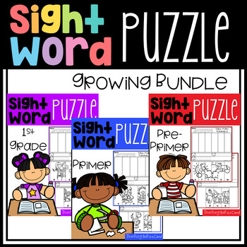 Sight Word Puzzle The Bundle