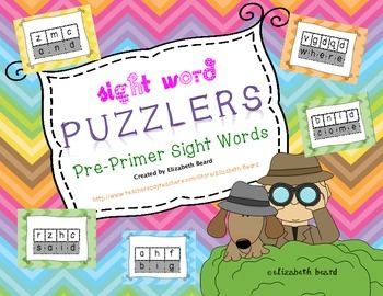 Sight Word Puzzlers: Pre-primer Sight Words