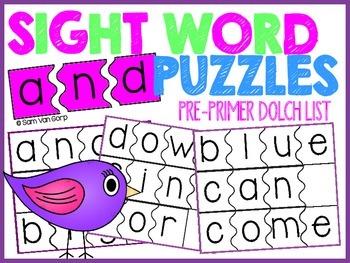 Sight Word Puzzles *Pre-Primer List*
