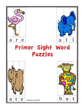 Sight Word Puzzles: Primer Dolch Sight Words