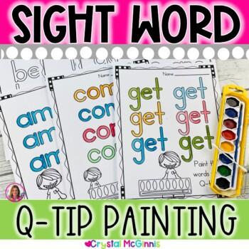 Sight Word Q-Tip Painting Mats (78 Kindergarten Words)