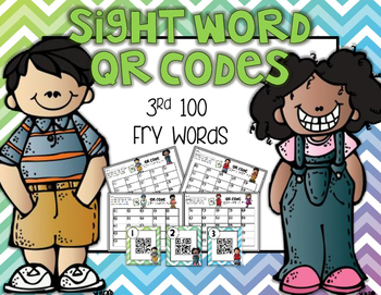 Sight Word QR Codes: 3rd 100 FRY Words