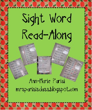 Sight Word Read Along pages