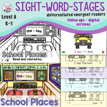 Guided Reading: Level A School Places Sight Word Reader an