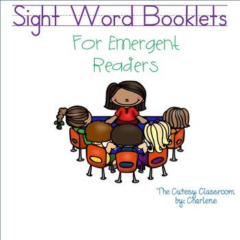 Sight Word Reader Booklets ELA CCSS RF.K.1a, RF.K.1b, RF.K