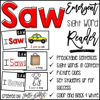 Sight Word Reader: Saw