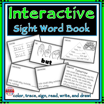 Sight Word Activity - Sight Word Book - BUT