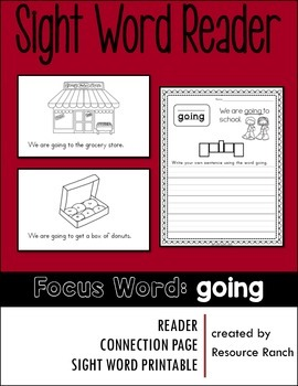 Sight Word Reader - going