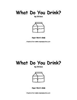 Sight Word Reader - drink