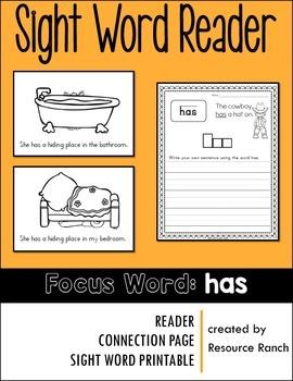 Sight Word Reader - has