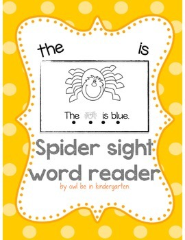 Sight Word Reader (is, the, color words)