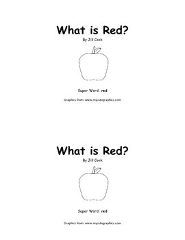Sight Word Reader - red