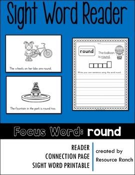Sight Word Reader - round
