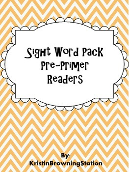 Sight Word Reading Flash Card Pack: Pre-Primer