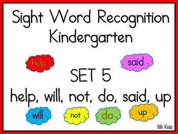 Sight Word Recognition Practice Set 5 / High Frequency Words