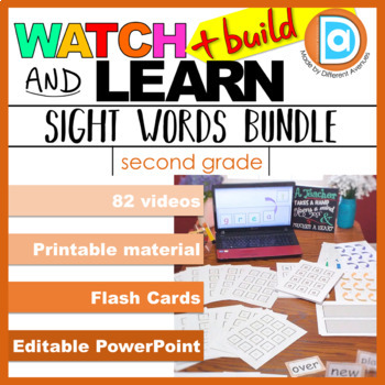 Sight Word Resource Pack, Level 2 - 82 Videos, Printables,