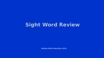 Sight Word Review - PowerPoint Presentation