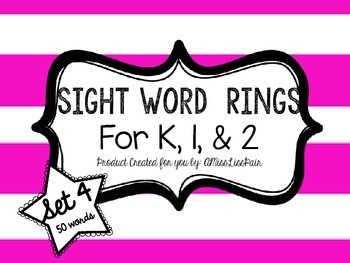 /Sight Word Rings: Set 4/