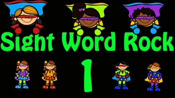 Sight Word Rock 1 Video (Fry's Sight Words 1-10)