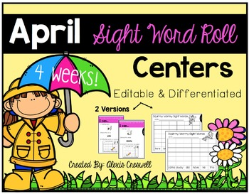 Sight Word Roll & Write-Editable