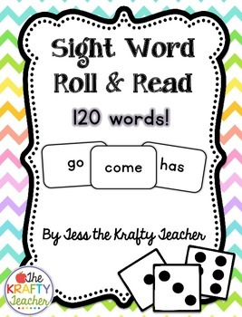 Sight Word Roll & Read - Fun, Engaging, Activity Kindergar