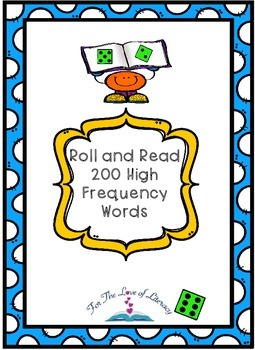 Sight Word Roll and Read: 200 High Frequency Words- Founta