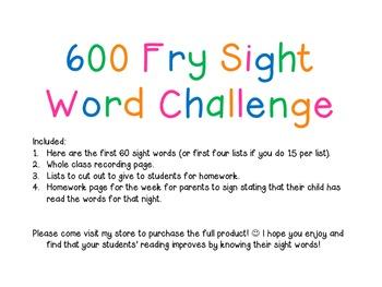 Sight Word Sample FREE