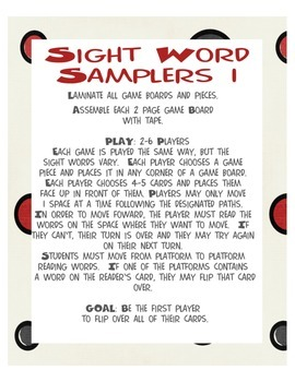 Sight Word Sampler 1: 3 games bundle! Aligned with CCS