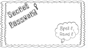 Sight Word Secret Password