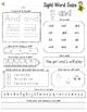 Sight Word Practice Worksheet -- FREEBIE--- Sight Word Savvy