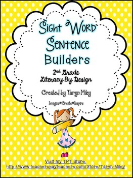 Sight Word Sentence Builders FREEBIE