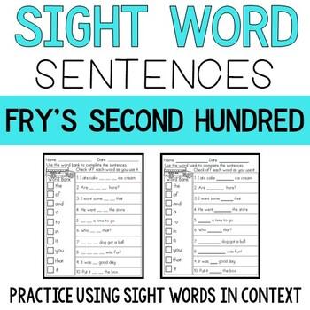 Sight Word Sentences: Fry's Second 100