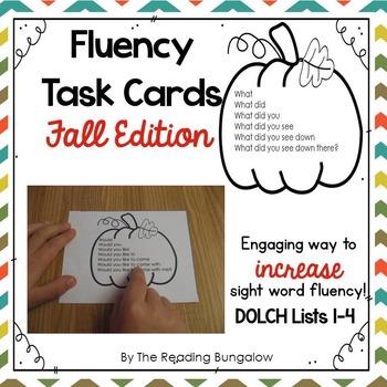 Sight Word Fluency Sentences {Fall Edition}