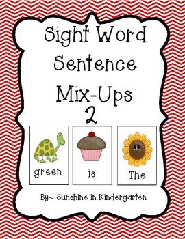 Sight Word Sentence Mix Ups 2