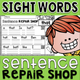 Sight Words Sentence Repair Shop