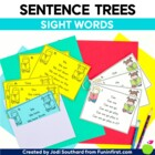 Sight Word Sentence Trees {Fluency Practice Cards}