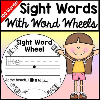 Sight Word Activities Kindergarten with Word Wheels {100 Words!}