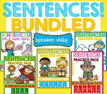 Sight Word Sentences Cut, Paste, Read and Practice All Yea