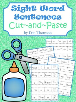 Sight Word Sentences ~ Cut-and-Paste