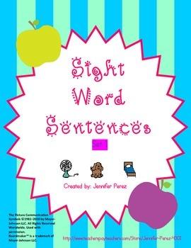 Sight Word Sentences- Set 1