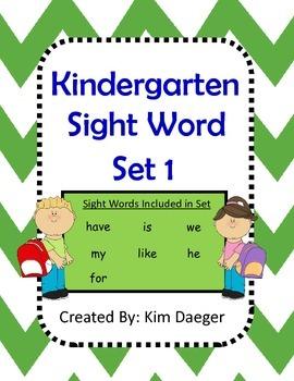 Sight Word Set 1