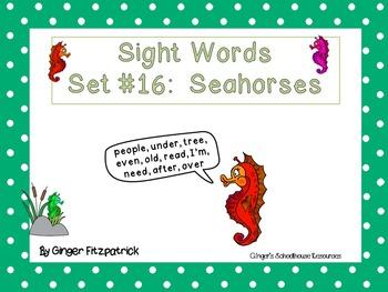 Sight Word Set #16 Seahorses