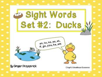 Sight Word Set #2 Ducks